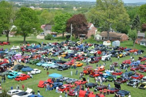 view of car show